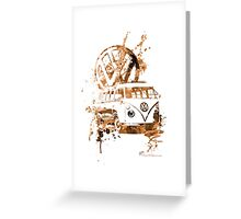 Volkswagen Kombi Splash Sepia Greeting Card
