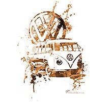 Volkswagen Kombi Splash Sepia © Photographic Print