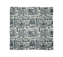 Seamless pattern with bikers, skulls  Scarf