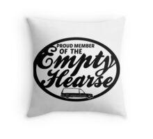 Empty Hearse Throw Pillow