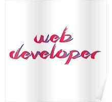Web Developer Red/Blue gradient Poster