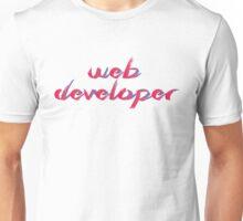 Web Developer Red/Blue gradient Unisex T-Shirt