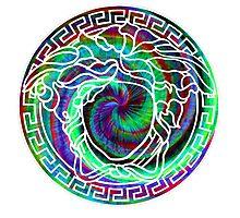Versace swirl dye Photographic Print