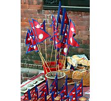 Nepalese Flags Photographic Print