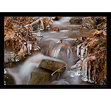 Freezing Stream Photographic Print