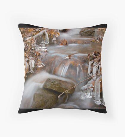 Freezing Stream Throw Pillow
