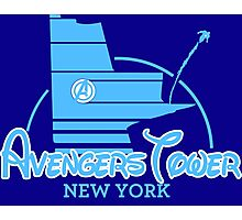 Avengers Tower (or Castle) from Age of Ultron (BLUE) Photographic Print