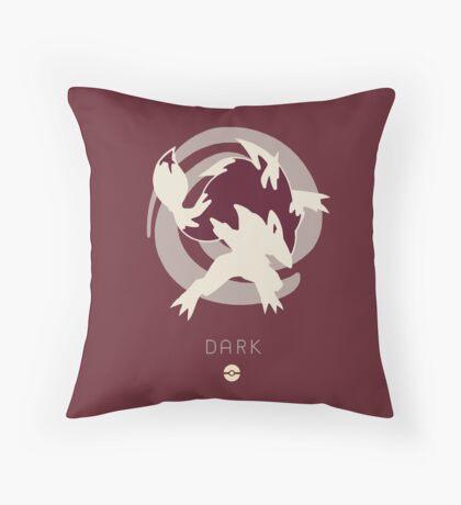 Pokemon Type - Dark Throw Pillow