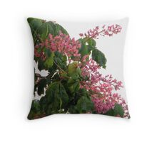 Parakeets in Conker Tree Throw Pillow