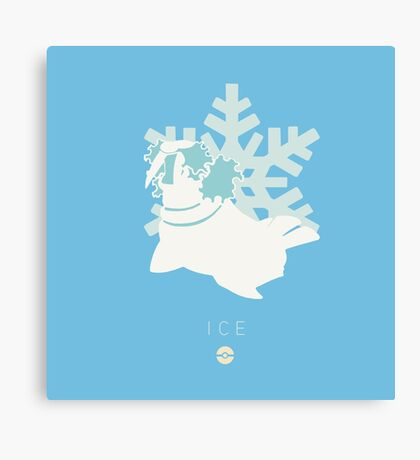 Pokemon Type  - Ice Canvas Print