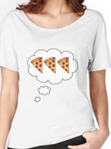 PIZZA ON MY MIND Women's Relaxed Fit T-Shirt
