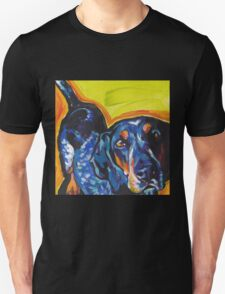 Bluetick Coonhound Dog Bright colorful pop dog art Unisex T-Shirt