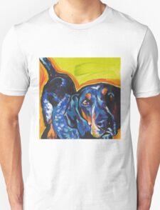 Bluetick Coonhound Dog Bright colorful pop dog art Unisex T-Shirt