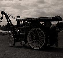 Steam Engine in mono by Paul  Brewer