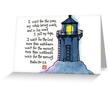 Wait in Hope Greeting Card