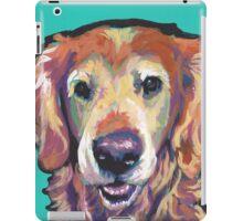 Senior Golden Retriever Dog Bright colorful pop dog art iPad Case/Skin