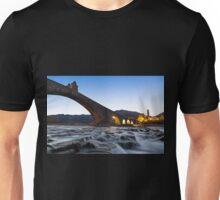Old bridge over the river Unisex T-Shirt