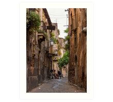 Coffee in Catania, Sicily Art Print