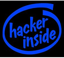 Hacker Inside Photographic Print