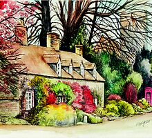 Country Cottage Yorkshire England by morgansartworld