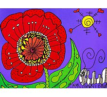 Red Flowers Grow In Mo's Garden Photographic Print