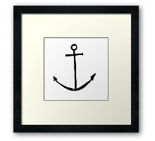 Minimal Anchor - Cool case for laptop & phone Available Framed Print