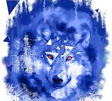 glitch wolf by Simondam