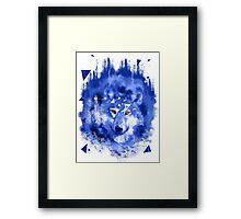 glitch wolf Framed Print