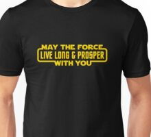 May The Force Live Long And Prosper With You Unisex T-Shirt