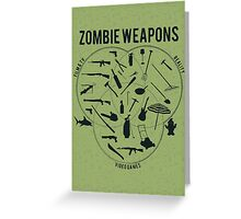 Zombie weapons Greeting Card
