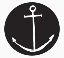 Round Minimal Anchor - Cool case for laptop & phone Available Kids Clothes
