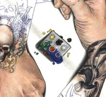 Drawing Hands Sticker
