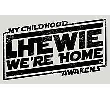 Chewie We're Home (My Childhood Awakens) - Dist black Photographic Print