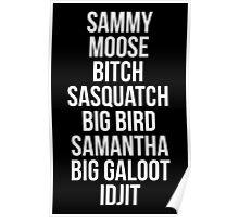 Sam Winchester Supernatural Nicknames Poster