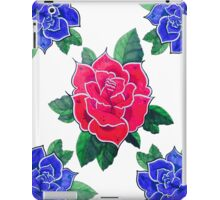 4 Blue for 1 Red iPad Case/Skin