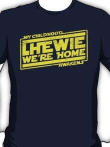 Chewie We're Home (My Childhood Awakens) - Dist yellow T-Shirt