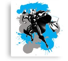 Thor Paint Splatter Canvas Print