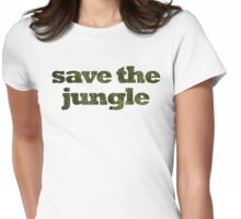 Save The Jungle Womens Fitted T-Shirt
