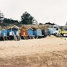 beach huts by daisychain