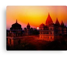 Cenotaphs of Orchha. India. Canvas Print
