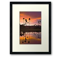 Palm Springs Sunset 1 Framed Print