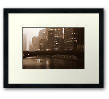 Fog in the Windy City Framed Print