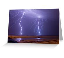 Double Strike Over Largs Bay, South Australia Greeting Card