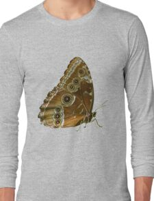 Beautiful Butterfly Wings of Meadow Brown Isolated Long Sleeve T-Shirt