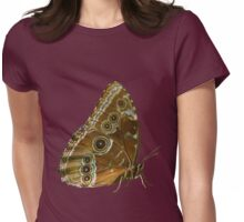 Beautiful Butterfly Wings of Meadow Brown Isolated Womens Fitted T-Shirt