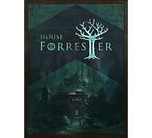 House Forrester Woodblock Poster Photographic Print
