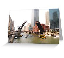 Chicago River Tilt Greeting Card