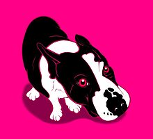 Mr Bull Terrier Pink by Sookiesooker