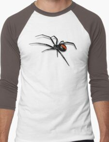 Redback Spider Black Widow Men's Baseball ¾ T-Shirt