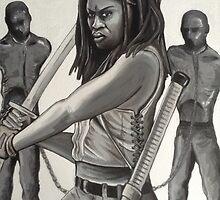 Michonne & pets  TWD  the Walking Dead by Maudster
